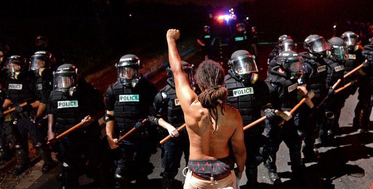 Archiefbeeld van een protest tegen politiegeweld.