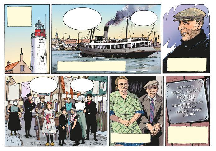 Stichting Odulphus werkt aan het uitbrengen van een stripboek over de lotgevallen van het joodse gezin Kropveld uit Urk.