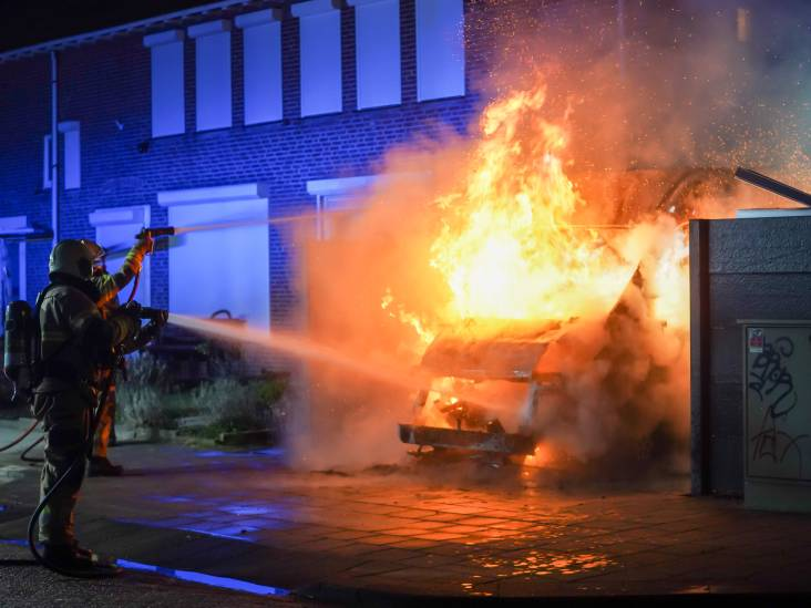 Bestelbus verwoest door brand in Oss