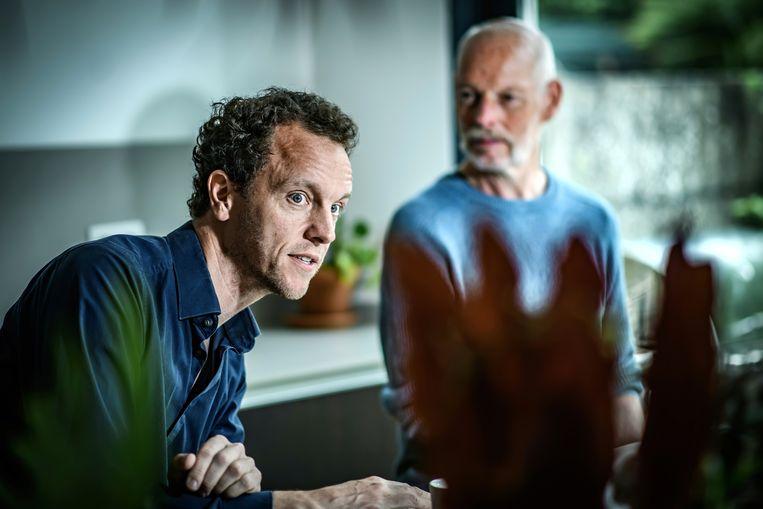 Thomas Goorden (rechts): 'Het wordt je als actievoerder steeds moeilijker gemaakt. Minister van Leefmilieu Joke Schauvliege (CD&V) was daar al erg bedreven in, minister Zuhal Demir (NVA) is dat net zo goed.' Beeld Geert Van de Velde