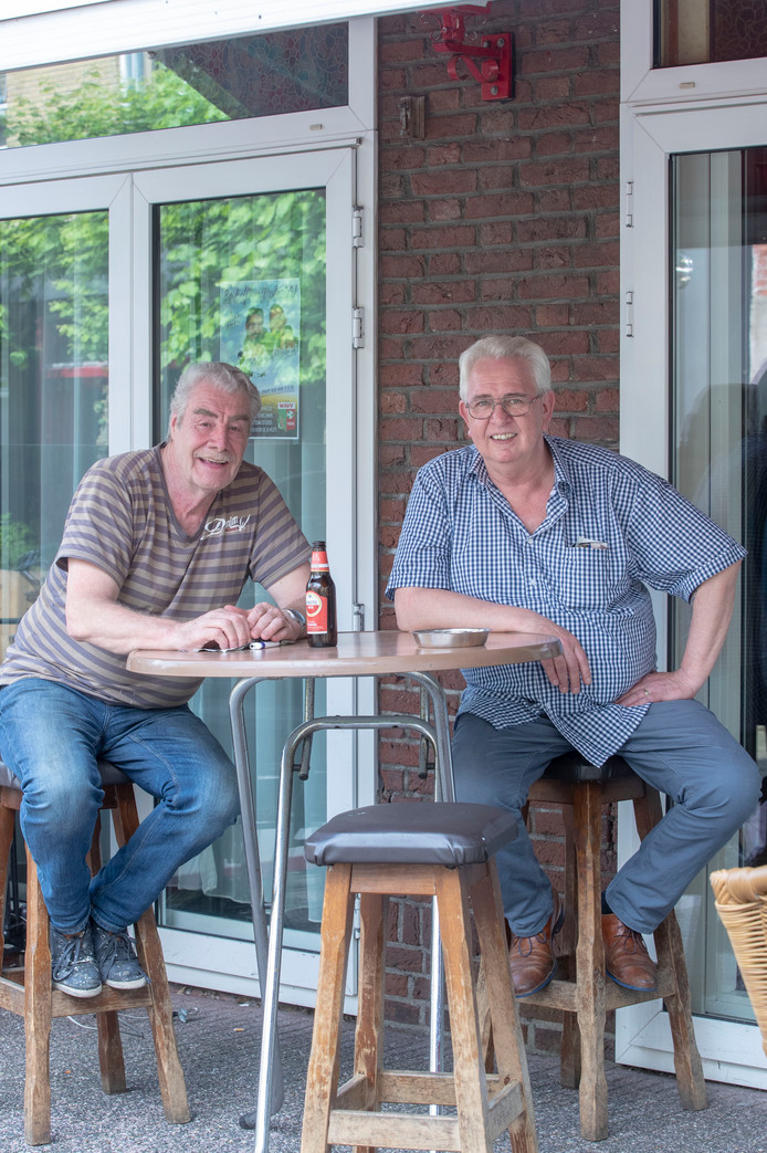 Henk Bussink (links) en Frits Post.