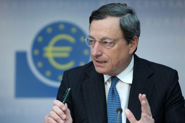 Draghi in 2012, als voorzitter van de ECB. Beeld AFP