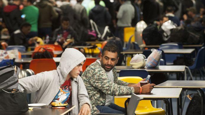 Vluchtelingen in de Jaarbeurs