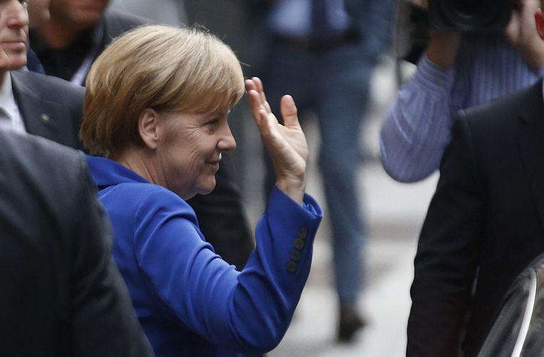 Merkel in Milaan Beeld ap