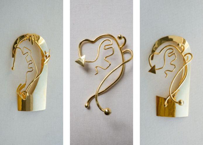 Alle earcuffs zijn gebaseerd op Italiaanse kunst.