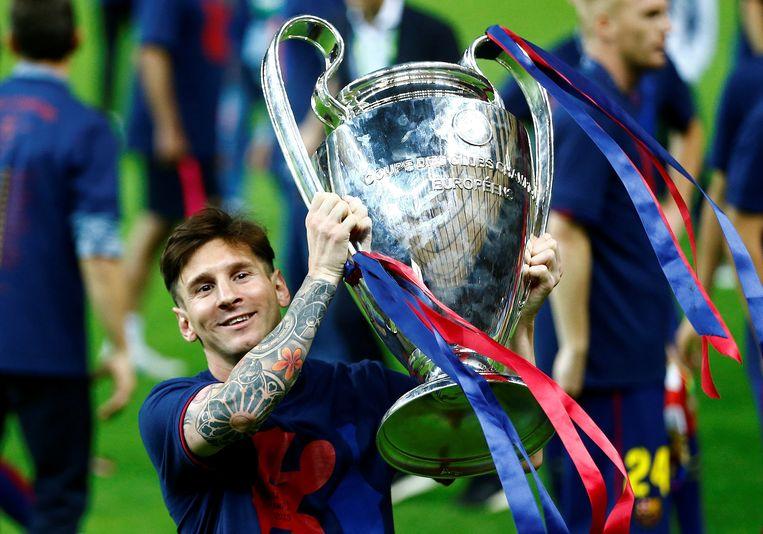 Messi won de Champions League vier keer met Barça. Beeld REUTERS
