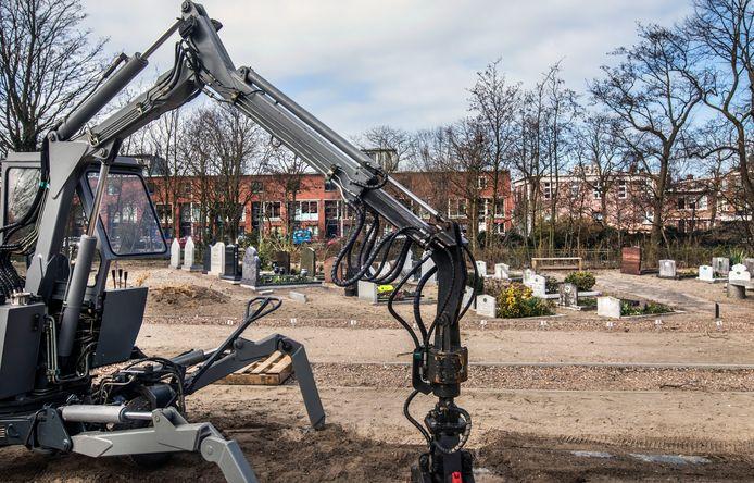 Het terrein op begraafplaats Nieuw Eykenduynen, dat heringericht gaat worden om plaats te maken voor extra islamitische graven.