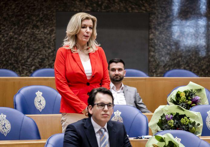 Liane den Haan (50Plus) tijdens de beëdiging als lid van de Tweede Kamer. ANP REMKO DE WAAL