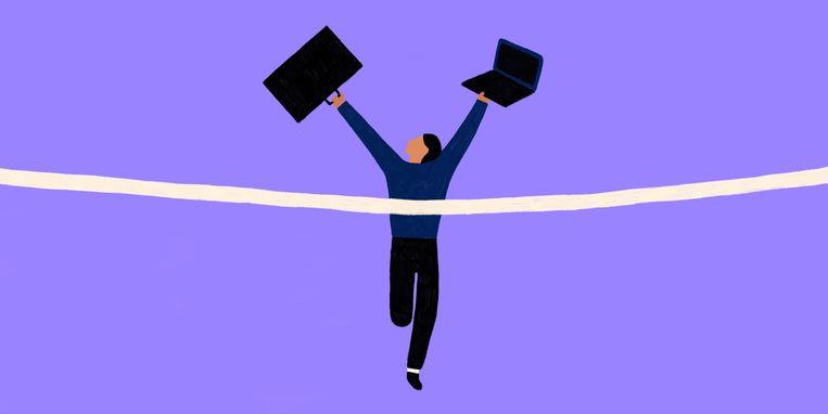 Productiviteitsmethodes kunnen de druk verhogen, omdat je nog meer in je dag propt in plaats van tijd over houdt. Beeld Sophia Twigt