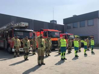 Ingetogen eerbetoon aan brandweerkazerne Herzele voor slachtoffers wateroverlast