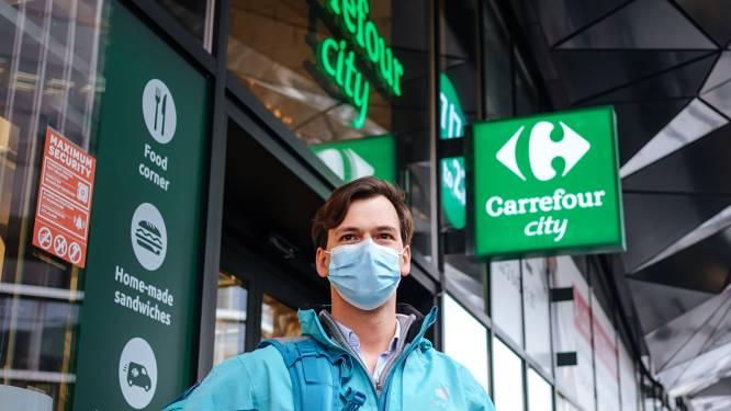 Gentenaars kunnen vanaf nu boodschappen doen bij Carrefour via Deliveroo
