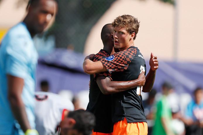 Sam Lammers scoorde tegen OGC Nice, maar desondanks verloor PSV met 3-1.