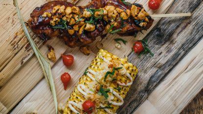 Streetfood bij je thuis: chicken skewer met maïskolf