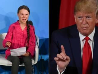 """Trump spot met Greta Thunberg: """"Ze ziet er heel gelukkig uit"""""""