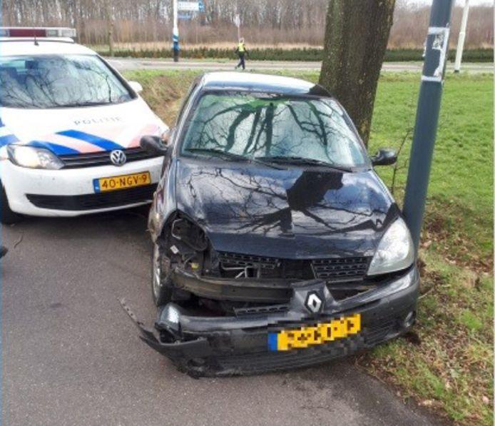 Politie achtervolging in Helmond.