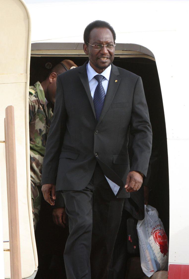 Interimpresident DionTraoré. Beeld AP
