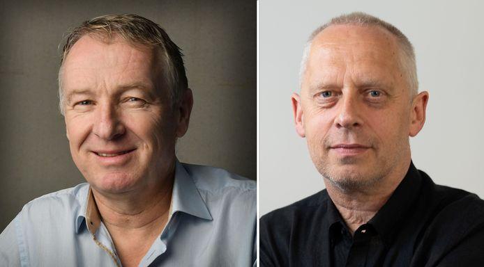 Journalisten Henk van Schuppen en Teun Staal.