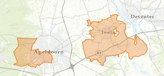 In Apeldoorn, Wilp en Twello is de stroom uitgevallen.