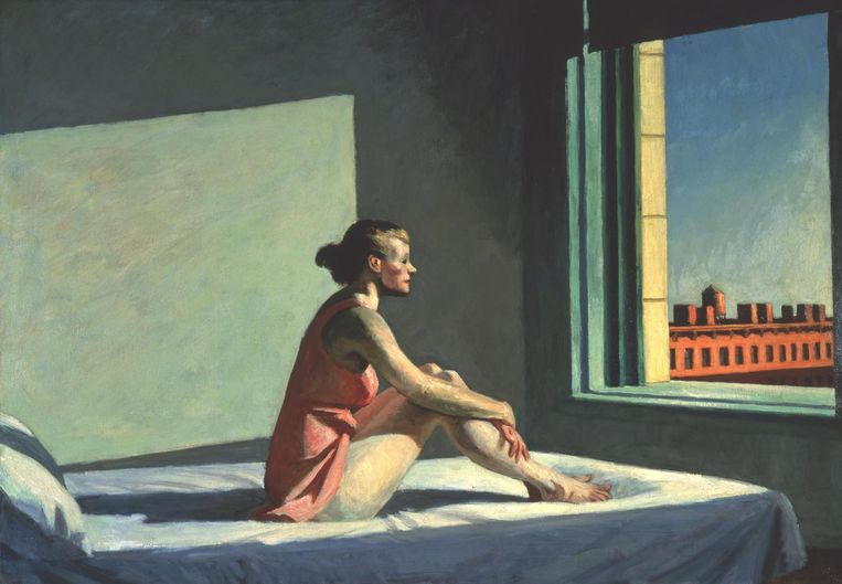 Edward Hopper, Morning Sun, 1952. Beeld Columbus Museum of Art, Ohio