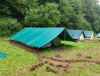 """Scouts Jobertus moeten kampplaats in Trois-Ponts verlaten: """"Jammer want we zaten nog redelijk 'droog'"""""""