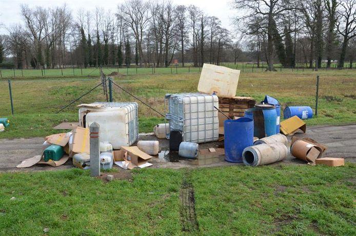 Eén van de zes drugsstorten die in Lommel aangetroffen werden.