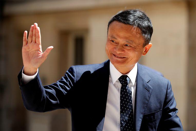 Jack Ma in mei 2019 in Parijs. Beeld REUTERS