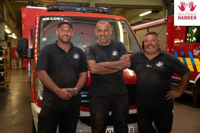 Mike Lampaert, Tony Van De Velde, Alain Verbeke en Wim Raes (niet op foto) trokken naar Pepinster om te helpen.