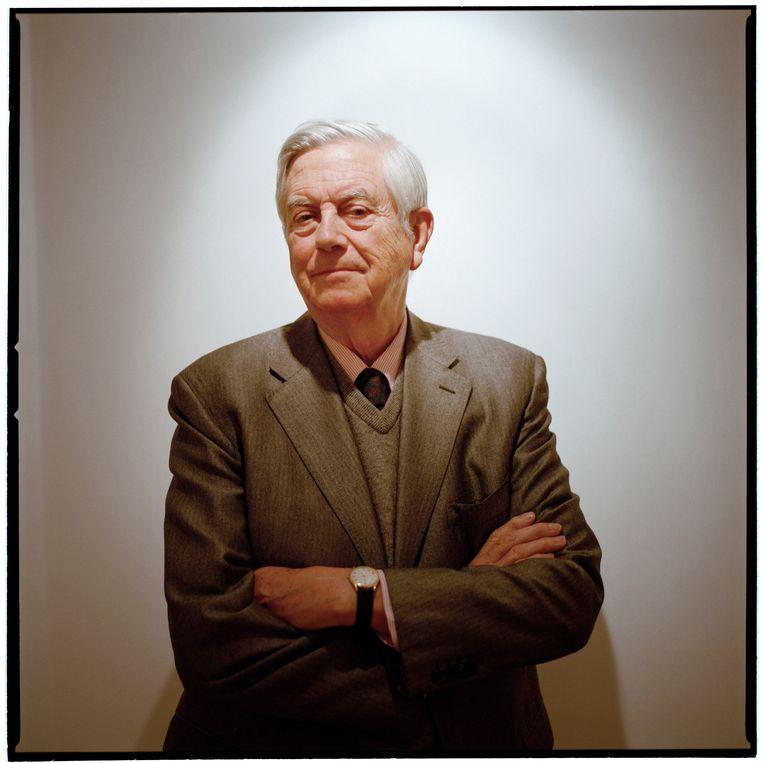 Frits Bolkestein, de politieke mentor van Geert Wilders, stelde zich hard op tegen moslims en tegen oud-kolonie Indonesië. Wilders begon in 1990 zijn speeches te schrijven. Beeld Roger Cremers/Hollandse Hoogte