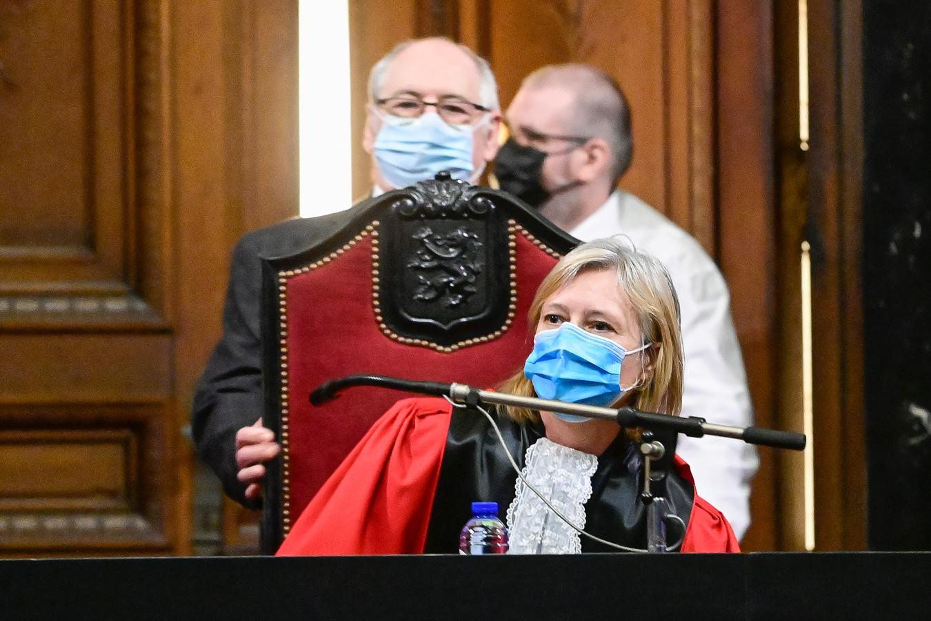 Rechtbankvoorzitter Anne Leclercq tijdens het proces.