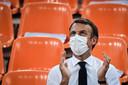 Emmanuel Macron aux JO de Tokyo, le 24 juillet dernier.