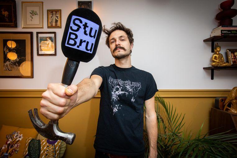 Thomas Michiels is zanger-bassist bij Psychonaut: 'Uiteraard mis ik de liveoptredens keihard.' Beeld Mine Dalemans