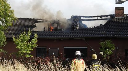 Ontplofte boiler zet bovenverdieping in brand