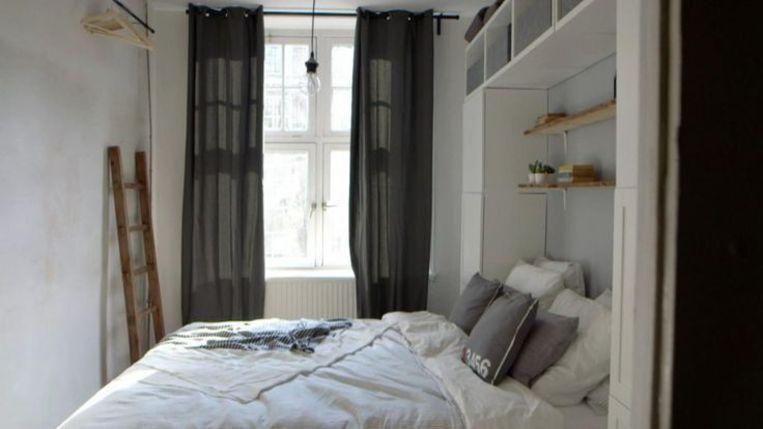 De slaapkamer van Dirk en Marte Beeld