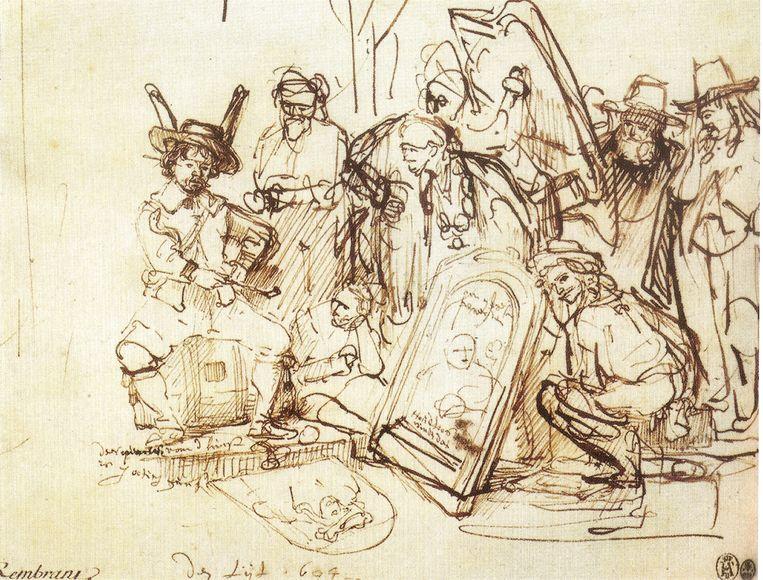 Rembrandt, 'Satire op de Kunst-Kritiek', 1644. Beeld Robert Lehman Collection, Metropolitan Museum, New York.