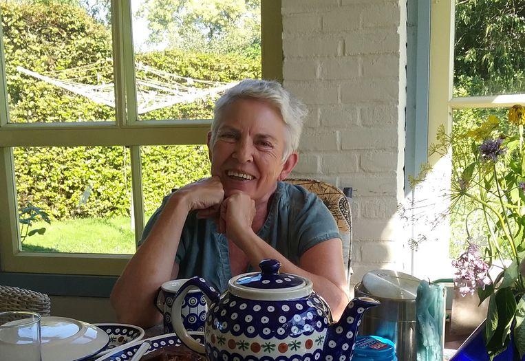 Christa Moelker op haar verjaardag in 2020. Beeld Familiearchief