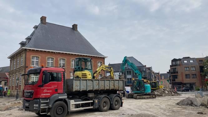 Grootschalige werken aan de Markt in Torhout zijn begonnen