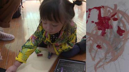 VIDEO. Kleine Lola (2) maakt schilderijen van 20.000 euro