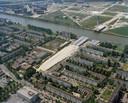 De aanleg van de Prins Clausbrug in 2002.
