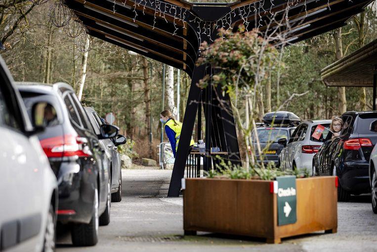 Een drukbezocht bungalowpark in Zeewolde. Beeld ANP