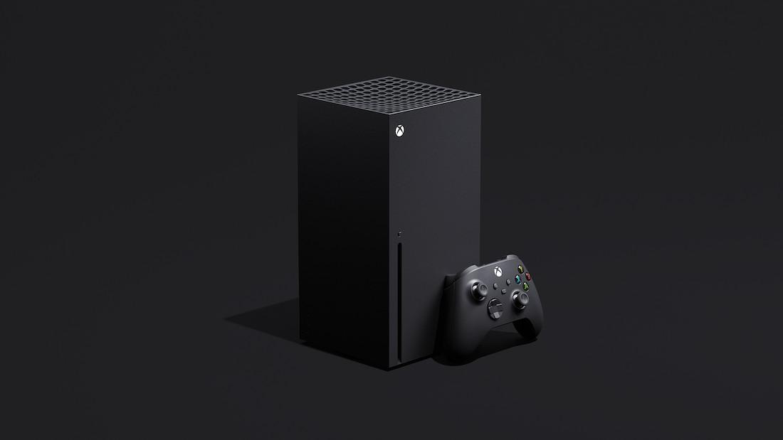 De zuilvormige Xbox Series X.