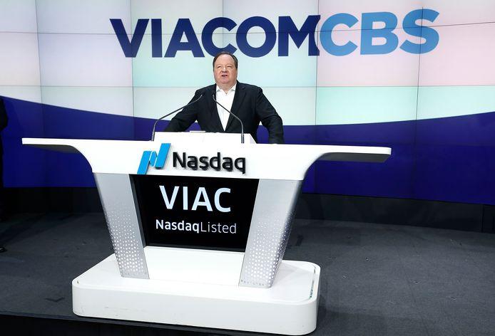 CEO van Viacom Robert M. Bakish op de Amerikaanse beurs in New York in december 2019.