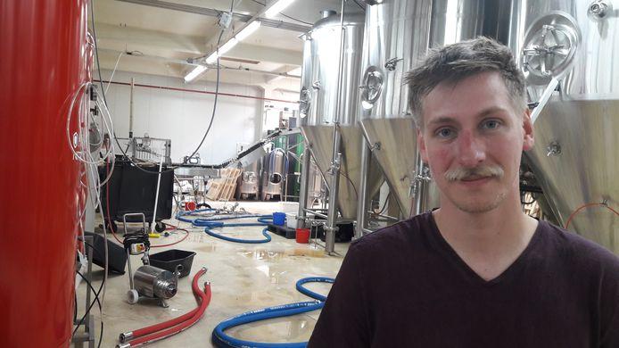 BREDA - Roel Buckens, eigenaar van brouwerij Frontaal, in het Faam-gebouw in Breda.