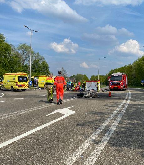 Motorrijder komt om het leven bij ongeluk in Wijchen: motor uitgebrand na botsing