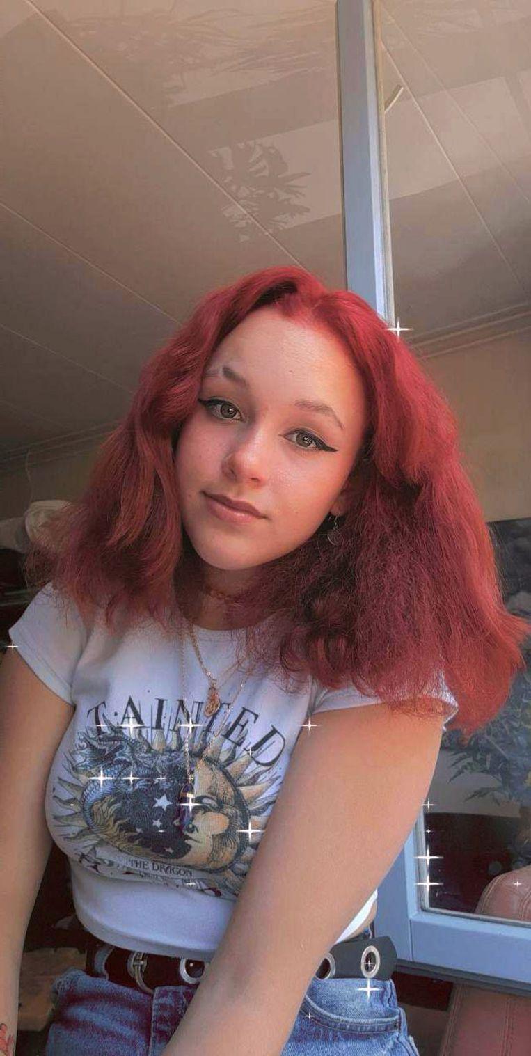 De selfie van Sylvaine. Beeld