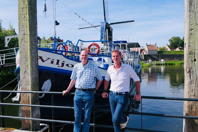 De broers Cornee en Wilco van Delft bij de Wiljo.