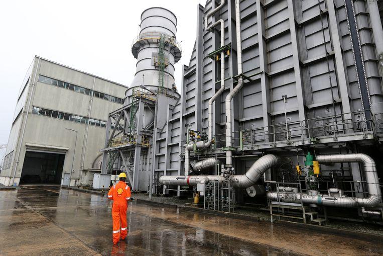 De Afam VI-elektriciteitscentrale van Shell in Nigeria. Beeld Getty