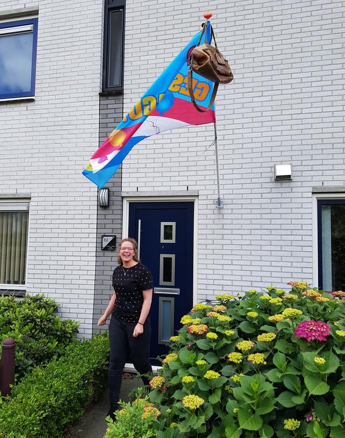 Gaby Steenland (18) slaagde voor de havo op het Nieuwe Eemland in Amersfoort.