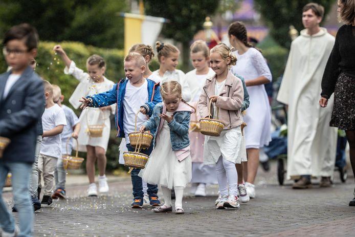 Kinderen tot 12 jaar mochten ook meelopen en hadden de grootste lol.