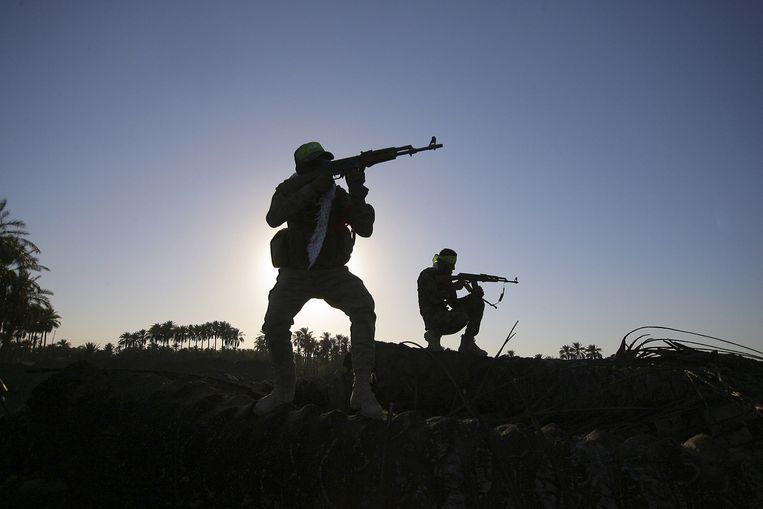 Sjiitische soldaten. Beeld ap