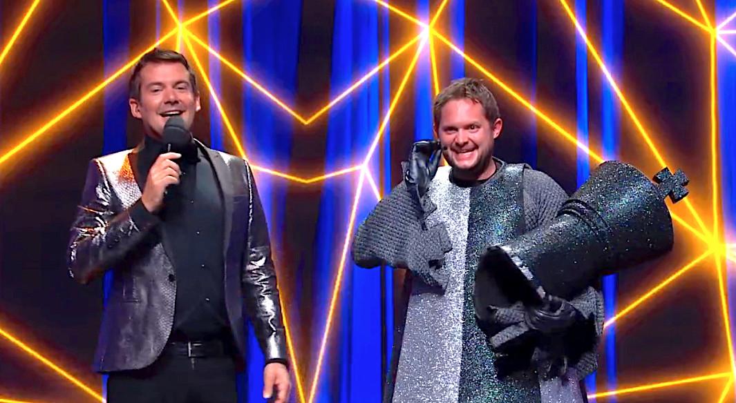 Diederik Jekel als de Koning in The Masked Singer.